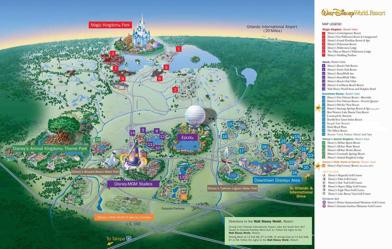 Walt disney world map orlando florida