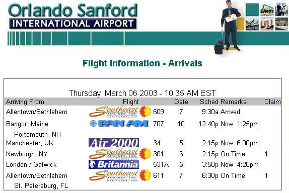 Real Orlando Florida Flight